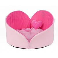 ZOOM (Зум) Angel Heart лежанка, розовый бархат/розовый, размер 0, 40х25см
