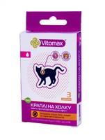 Vitomax ЭКО - капли на холку против блох и клещей для котов