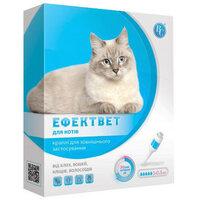 Капли противопаразитарные Ветсинтез Эффектвет для кошек от 6 мес 5 х 0.5 мл