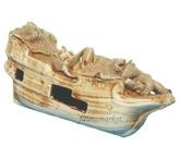 Декорация для аквариума Керамика Корабль малый № 172