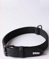FIDA Нашийник для собак шкіряний, (чорний, S) 23-30 см