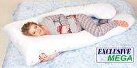 Подушка для беременных MEGA Exclusive, Наволочка (на выбор) входит в комплект
