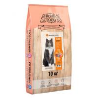 Полнорационный сухой корм для привередливых взрослых котов Home Food с курочкой и ливером 10 кг