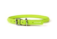 Круглый ошейник Collar Glamour для длинношерстных собак 8 мм 20-25 см Лайм (22405)