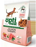 Optimeal™. Защита иммунитета. Сухой корм для взрослых котов - с лососем и креветками