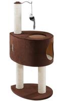 PA 4019 Когтеточка для кошек с домиком и игрушкой