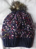 Женская зимняя шапка вязка