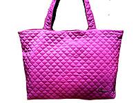 Женские стёганные сумки 46*30 (розовый)