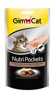 GimCat Nutri 60г - хрустящие подушки для кошек с птицей и биотином (400709 )