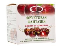 """Крем питательный ночной """"Delia"""" фруктовая фантазия вишня со сливками (50ml)"""