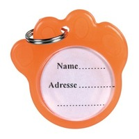 TX-2277брелок д/адреса(оранж.в форме лапы)