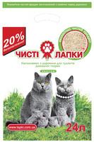 Чистые Лапки Эконом Древесный наполнитель - 6 кг