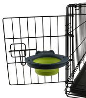 Dexas Collapsible Kennel Bowl  Миска складная с креплением для клетки для собак и кошек