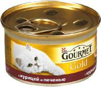 Gourmet Gold курица печень кусочки в подливе 85 г Гурме Голд