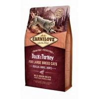 Carnilove Cat 6 кг Duck & Turkey Large Breed для крупных кошек