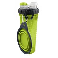 H-DuO™ with Companion Cup Бутылка двойная для воды  со складной миской для собак и кошек