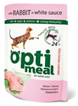 OptiMeal Rabbit and White sauce - с кроликом в соусе 85г