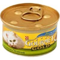 Gourmet Gold Кролик и Печень консервы для кошек