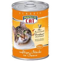 Консерви для котів Perfecto Cat Classic соковиті шматочки птиці в соусі