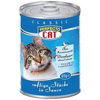 Консерви для котів Perfecto Cat Classic соковиті шматочки рибки в соусі