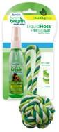 LiquidFloss RopeBall Набор из верёвочной игрушки и «жидкой» зубочистки (маенький)