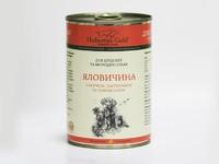Консервированный корм для щенков и молодых собак Hubertus Gold Ягненок и Говядина с Пастернаком и Кольраби, 400 г